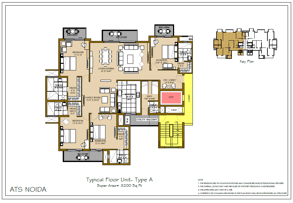 Resale flats in ats pristine sector 150 noida for Floor plans under 150 000